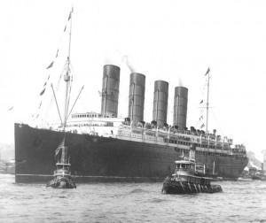 The Lusitania in 1907