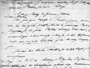 Part of a Letter