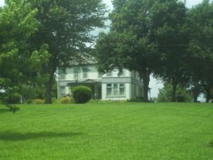 Frank James' house near Clinton, MO