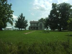 Jesse James' house near Clinton, MO