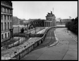 The Berlin Wall by the Brandenburger Tor.