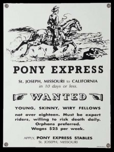 Pony Express Sign