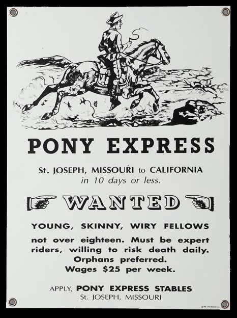 Pony Express Sign