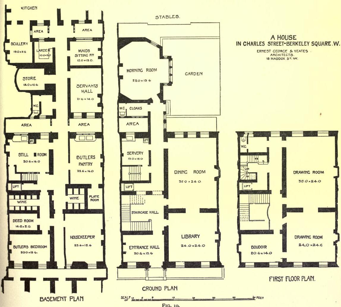 Houses in fin de si cle britain floor plans and the Home layout