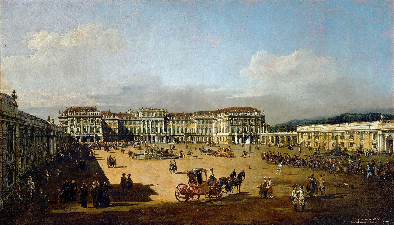 Schönbrunn von der Hofseite. Canaletto, 1758